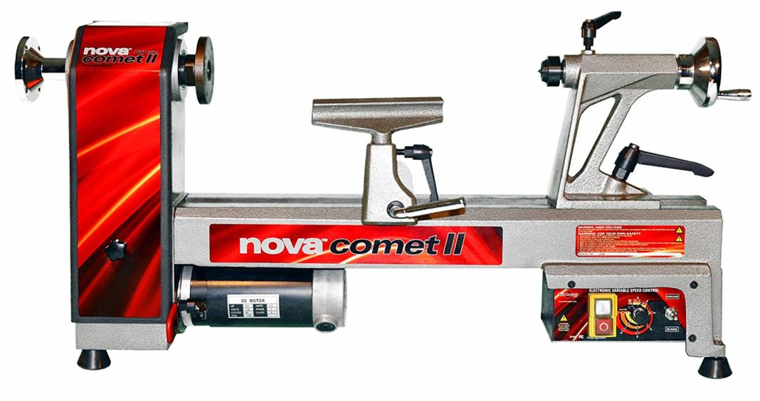NOVA 46300 Comet II Variable Speed Mini Lathe 12-Inch x 16 1 by 2-Inch